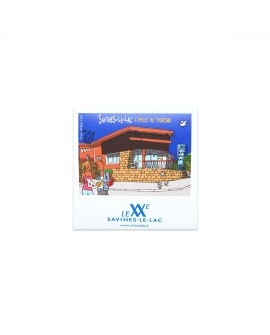 "Magnet Photo Vintage ""Savines-Le-Lac-Office du Tourisme"""